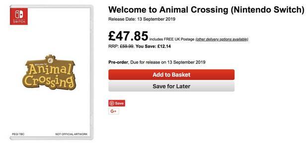 Una tienda británica pone fecha a Animal Crossing y Luigi's Mansion 3 Imagen 4
