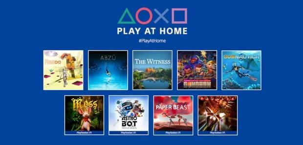 Nueve juegos gratis para PS5 y PS4 con Play At Home 2021.
