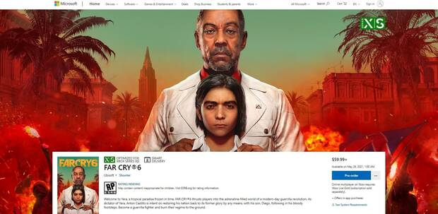 Microsoft Store lists May 26, 2021 as the debut date for Far Cry 6