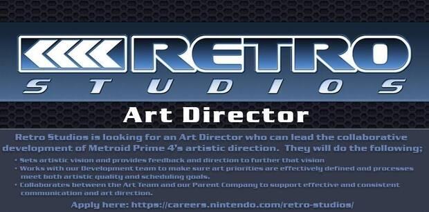 Retro Studios busca un director artístico para Metroid Prime 4 Imagen 2