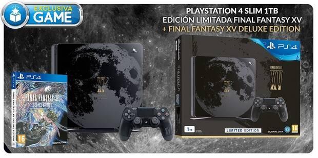 GAME venderá en exclusiva la edición limitada de PS4 Slim con motivos de FF XV Imagen 2