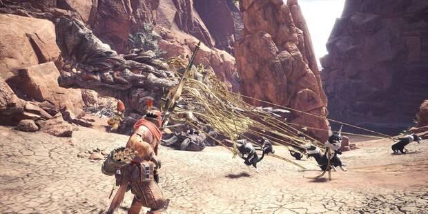 Cómo construir trampas y capturar monstruos en Monster Hunter World