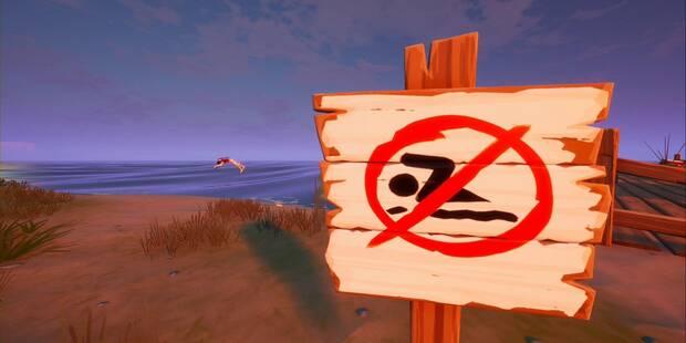 Desafío Fortnite: Nada en varias zonas con señales de Prohibido nadar - LOCALIZACIÓN