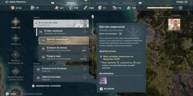 Ejército unipersonal en Assassin's Creed Odyssey - Misión secundaria