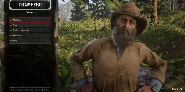 Tramperos en Red Dead Redemption 2: Localización y objetos de creación