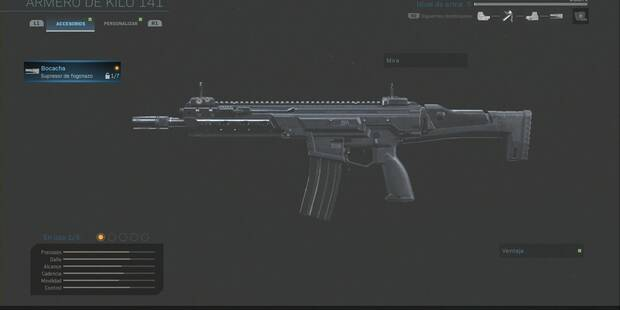 Accesorios y camuflajes de armas en Call of Duty: Modern Warfare