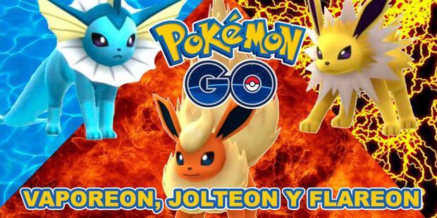 Cómo conseguir a Vaporeon, Jolteon y Flareon en Pokémon Go