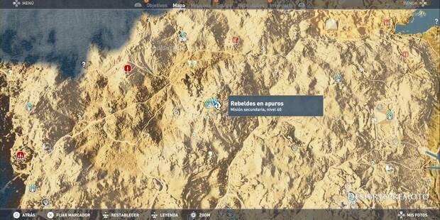 Misiones secundarias de Desierto Remoto en Assassin's Creed Origins