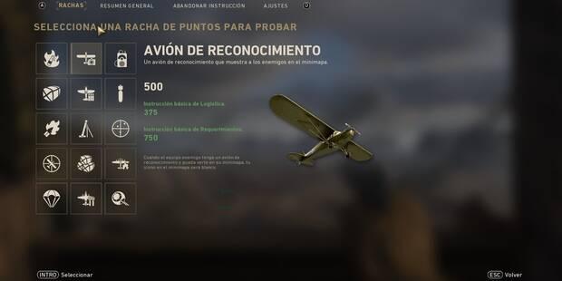 Rachas de bajas / puntos y recompensas de Call of Duty: WWII