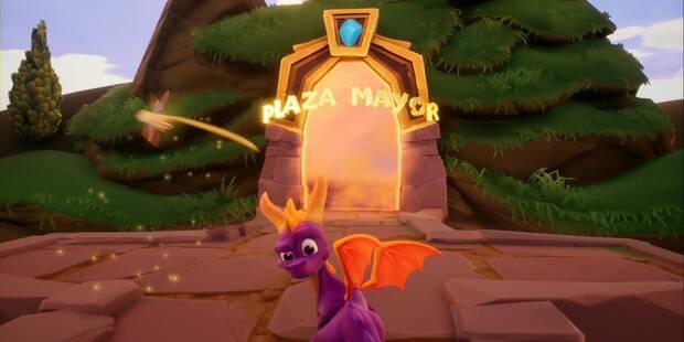 Plaza Mayor en Spyro 1 - Estatuas de dragón y secretos
