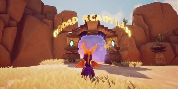 Ciudad Acantilado en Spyro 1 - Estatuas de dragón y secretos