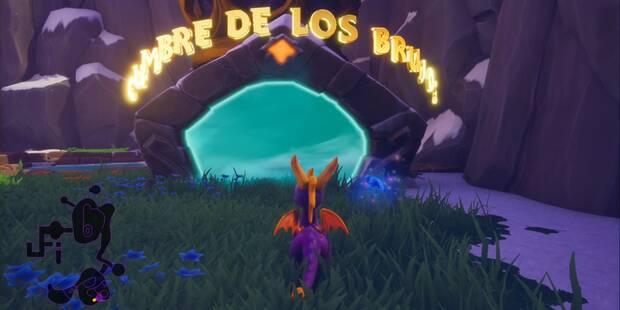 Cumbre de los brujos en Spyro 1 - Estatuas de dragón y secretos