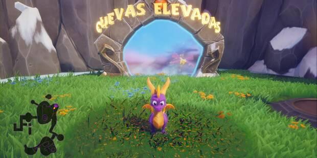 Cuevas elevadas en Spyro 1 - Estatuas de dragón y secretos