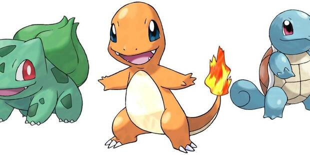 Dónde capturar a Bulbasaur, Charmander y Squirtle en Pokémon Let's Go Pikachu / Eevee
