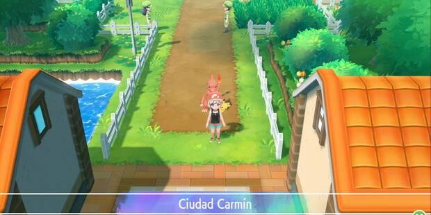 Ciudad Carmín en Pokémon Let's Go - Paso a paso y secretos
