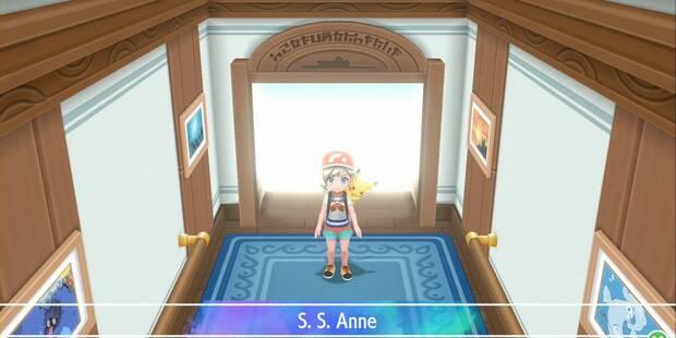 S.S. Anne en Pokémon Let's Go - Pokémon y consejos