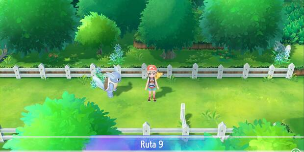 Ruta 9 en Pokémon Let's Go - Pokémon y secretos