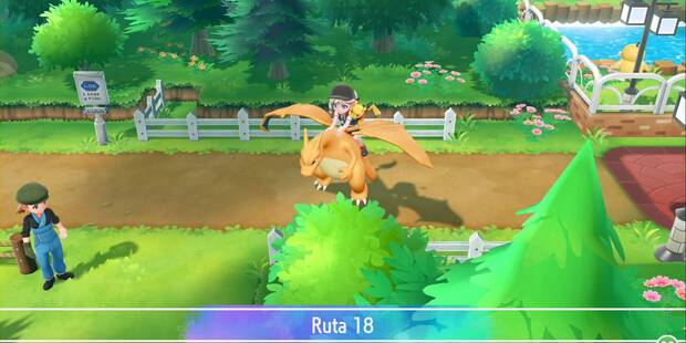 Ruta 18 en Pokémon Let's Go - Pokémon y secretos