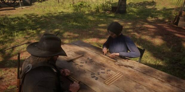 Actividades del campamento en Red Dead Redemption 2