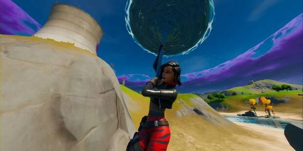 Desafío Fortnite: Encuentra el accesorio mochilero escondido en la pantalla de carga de Caos en ascenso mientras llevas el traje Sorana