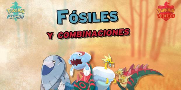 Fósiles en Pokémon Espada y Escudo: Localización y combinaciones