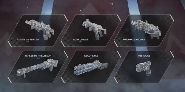 Las MEJORES armas de APEX Legends - Daño, estadísticas y tipos