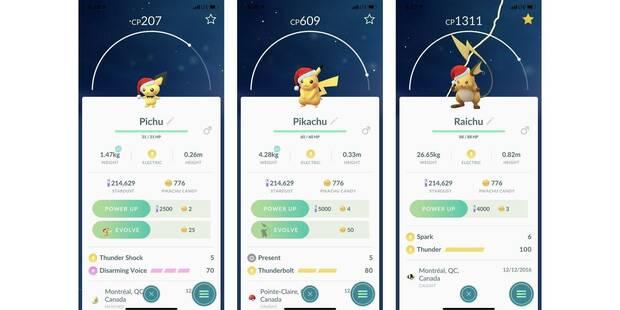 Conseguir a Pikachu, Raichu y Pichu con gorros en Pokémon GO