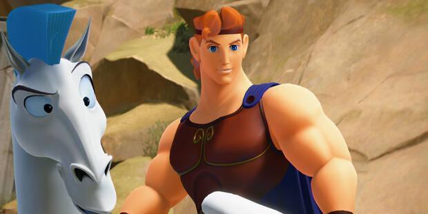 Los cinco muñecos dorados de Hércules en Kingdom Hearts 3