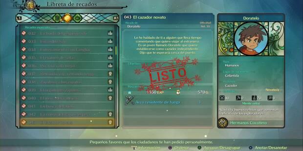 Recado Especial 043 - El cazador novato en Ni No Kuni 2: El renacer de un reino