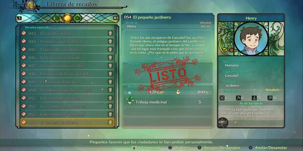 Recado Especial 054 - El pequeño jardinero en Ni No Kuni 2: El renacer de un reino