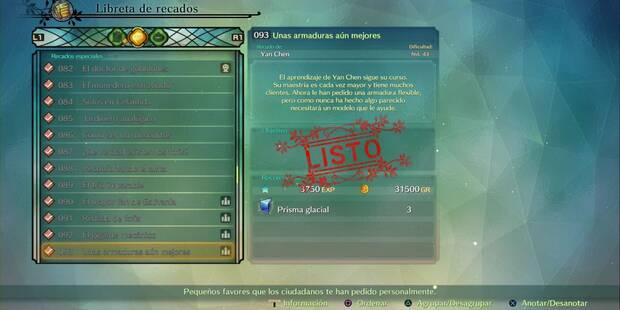 Recado Especial 093 - Unas armaduras aún mejores en Ni No Kuni 2: El renacer de un reino