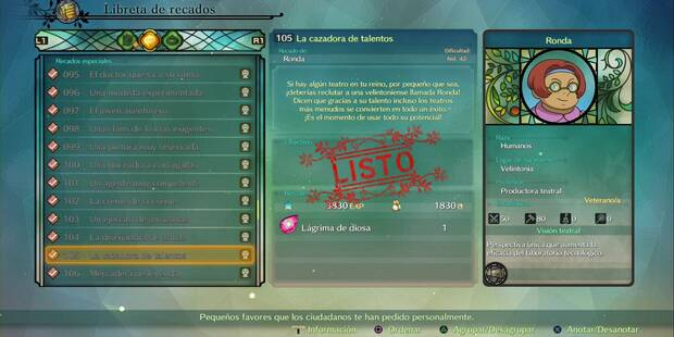 Recado Especial 105 - La cazadora de talentos en Ni No Kuni 2: El renacer de un reino