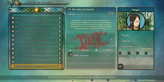 Recado Especial 106 - Mercadera de leyenda en Ni No Kuni 2: El renacer de un reino