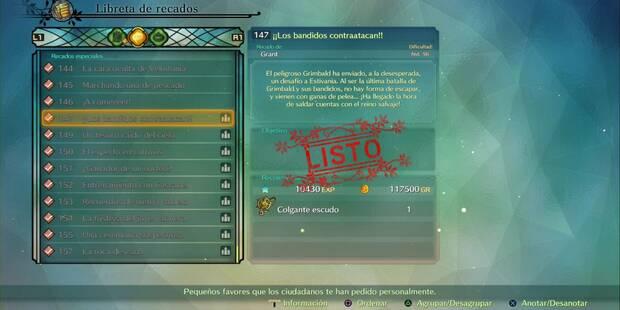 Recado Especial 147 - ¡Los bandidos contraatacan! en Ni No Kuni 2: El renacer de un reino