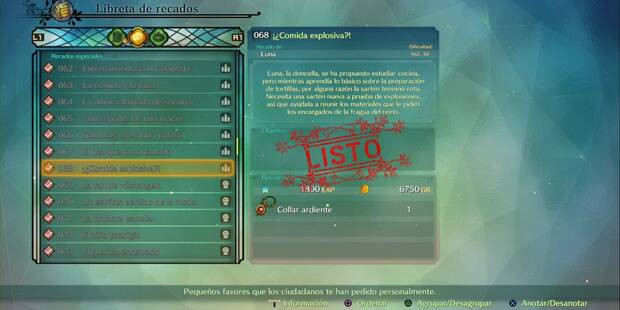 Recado Especial 068 - ¡¿Comida explosiva?! en Ni No Kuni II