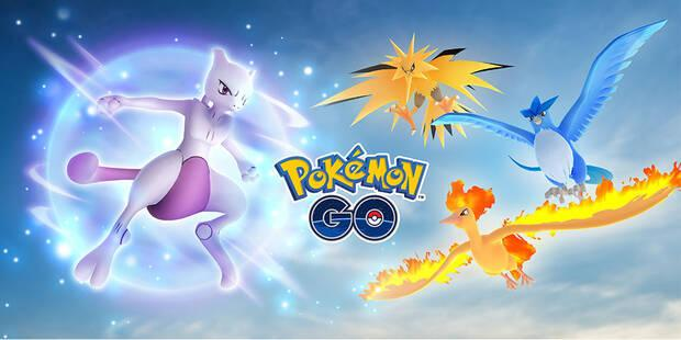 Pokémon GO - Pokémon Legendarios: Mewto, Articuno, Zapdos y Moltres