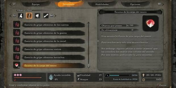 Escamas de la carpa del tesoro en Sekiro: cómo conseguirlas y usarlas