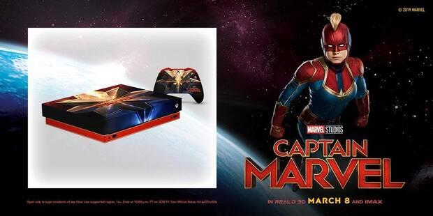 Microsoft sortea una Xbox One X personalizada de 'Capitana Marvel' Imagen 2