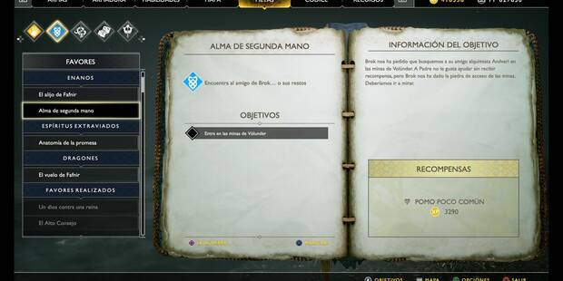 Alma de segunda mano en God of War (PS4)