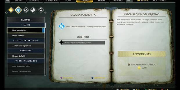 Deus ex malachita en God of War (PS4)