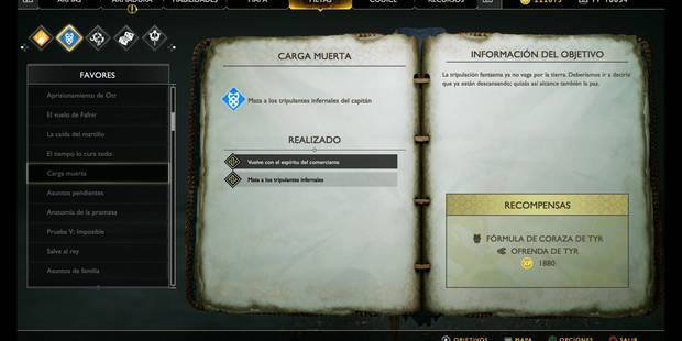 Carga muerta en God of War (PS4)