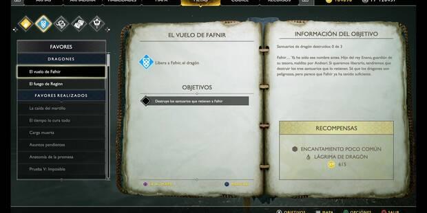 El vuelo de Fafnir en God of War (PS4)