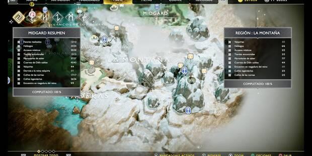 La montaña en God of War (PS4): TODOS los coleccionables y secretos