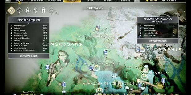 Fortaleza de Northri en God of War (PS4): TODOS los coleccionables y secretos