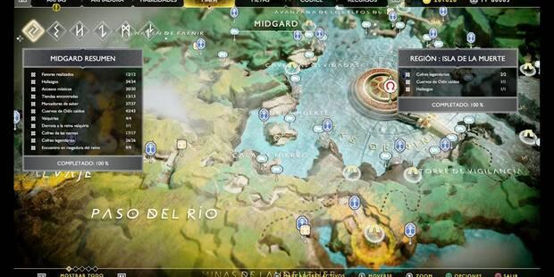 Isla de la Muerte en God of War (PS4): TODOS los coleccionables y secretos