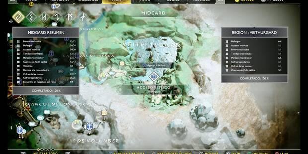 Veithurgard en God of War (PS4): TODOS los coleccionables y secretos