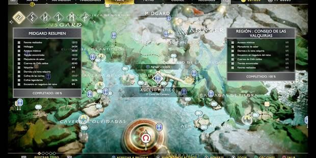Consejo de las valquirias en God of War (PS4): TODOS los coleccionables