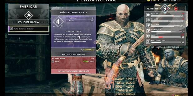 Los mejores pomos para las armas en God of War (PS4)