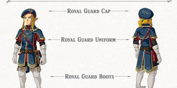 Conseguir el atuendo de la guardia en Zelda: La Balada de los Elegidos