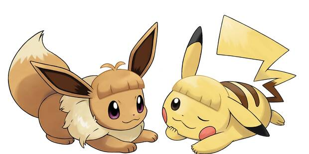 Todos los peinados para Eevee y Pikachu en Pokémon Let's Go